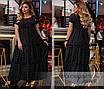 Платье короткий рукав длинное летнее софт 50-52,54-56, фото 2