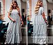 Платье короткий рукав длинное летнее софт 50-52,54-56, фото 3