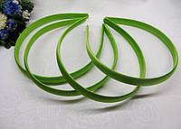 Обруч пластиковый  в ткани. Цвет зеленый (салатовый) 1.5 см - 7.30 грн