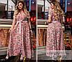 Платье длинное короткий рукав принт софт 50-52,54-56, фото 2