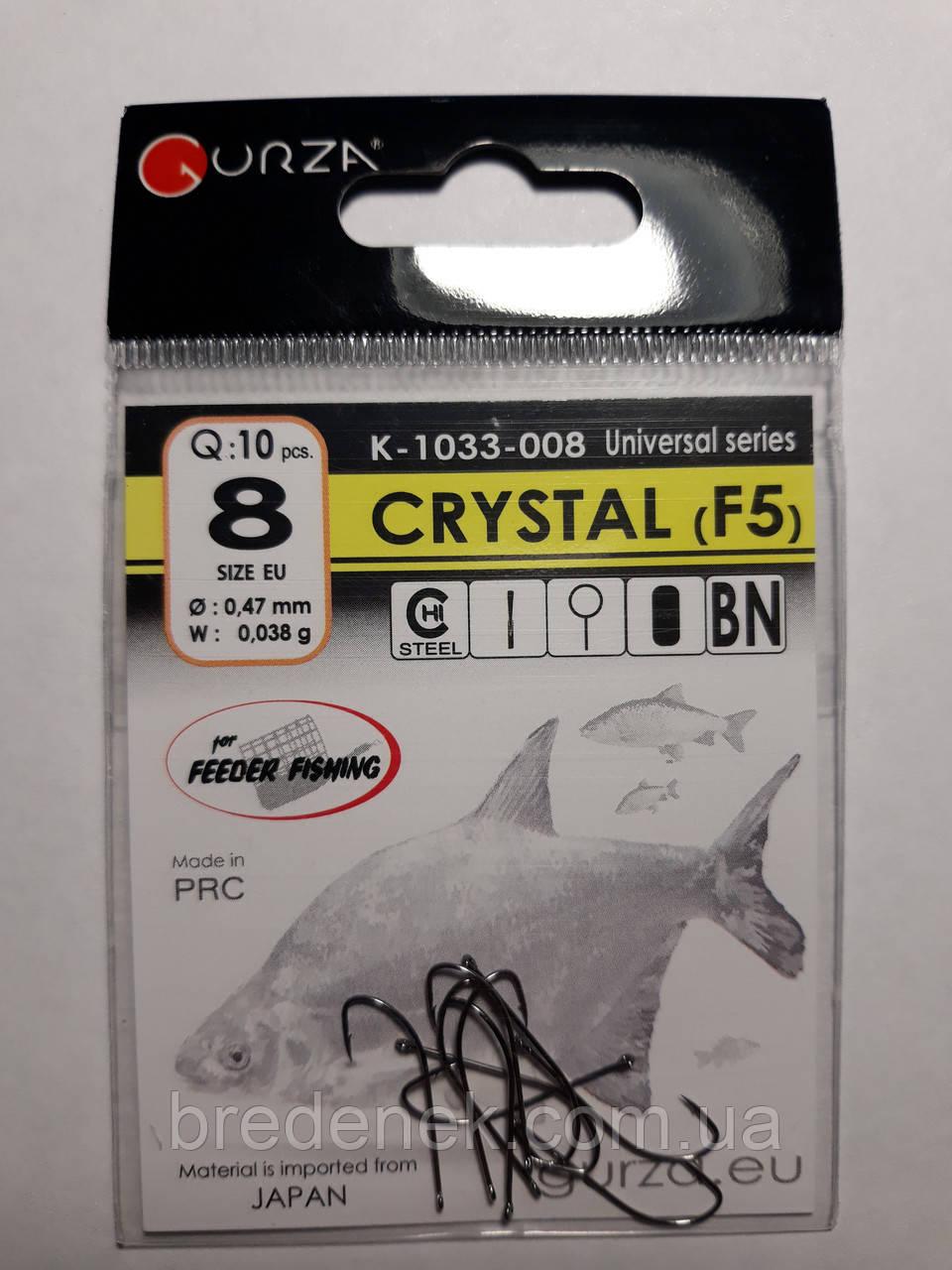 Крючки Gurza crystal f5 № 8