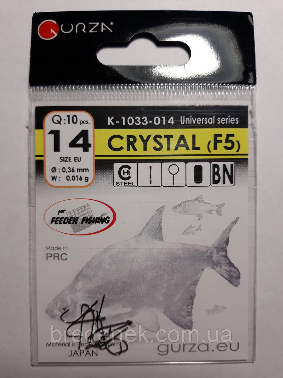 Крючки Gurza crystal f5 № 14