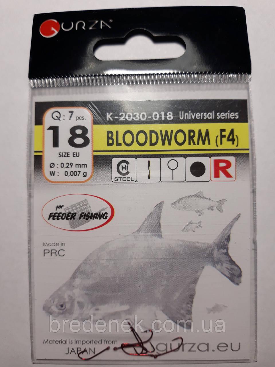 Крючки Gurza bloodworm red № 18