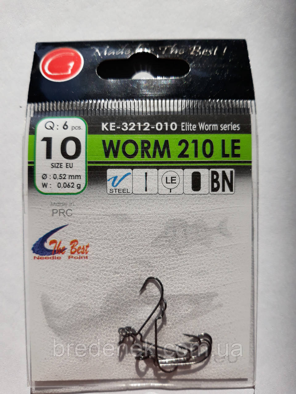 Крючки Gurza worm 210 le № 10