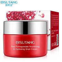Bisutang крем для лица с фильтратом слизи улитки и экстрактом граната