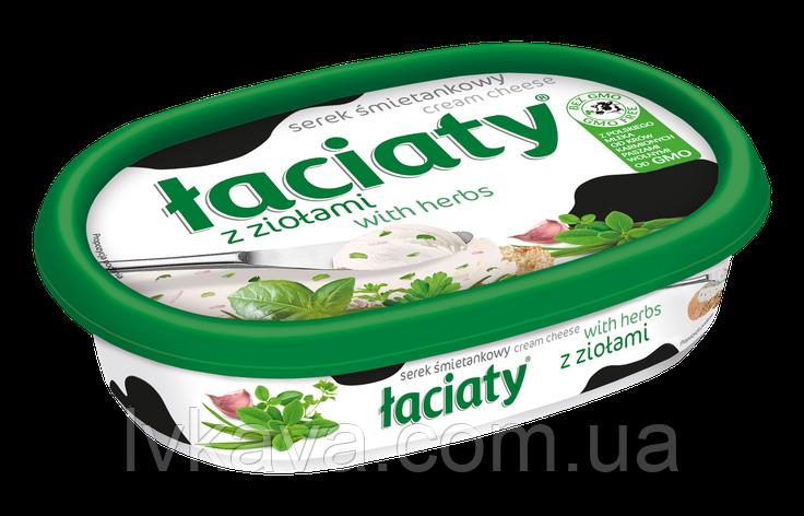 Сыр сливочный Laciaty с зеленью , 135 гр, фото 2