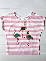 Детская футболка с двусторонними пайетками для девочки C&A Германия Размер 104