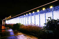 Иллюминация фасадов, оформление зданий к новому году, украшение дома на рождество