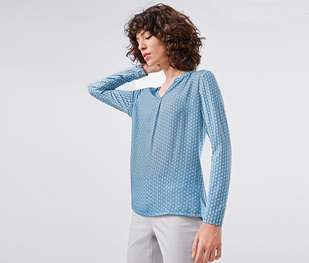 Элегантная блуза с принтом  от тсм Чибо (Tchibo), Германия, размер укр 46-48
