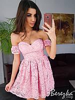 Гипюровое платье бюстье (с чашечками), фото 1