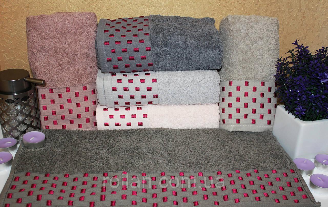 Банные турецкие полотенца Малиновая точка