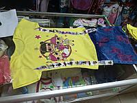 Костюм детский летний для девочки футболка и джинсовая юбка Куклы Лол р.116 -140