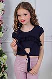 Топ для девочки розовый голубой мята чёрный , фото 2