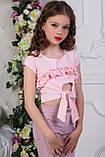 Топ для девочки розовый голубой мята чёрный , фото 3
