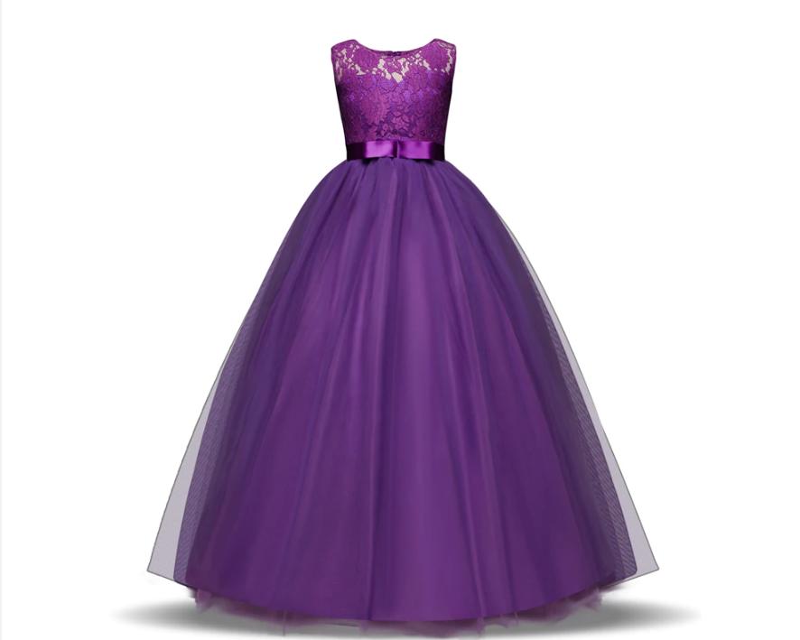 Святкова сукня фіолетове в підлогу. Для девочкіGirl Dress 2020 Vestido daminha purpura
