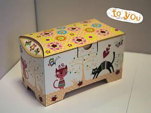 """Картонная коробка для пирожных Сундучок """"Дитячий""""150-300г, фото 2"""