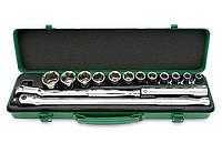 Набор дюймовых головок, 1/2 дюйма, шестигранных, 15 предметов, дюймовый инструмент, Toptul GCAD1512