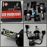 Лампочки LED H4 Hi/Low 6500K / 5000Lm (кт-2шт), 9-36V 30W IP65, фото 3