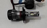 Лампочки LED H4 Hi/Low 6500K / 5000Lm (кт-2шт), 9-36V 30W IP65, фото 5