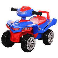 Детская каталка - толокар M 3502-4-3, с музыкой и светом, сине-красная