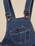 Детский джинсовый комбинезон шорты на девочку 4 года, фото 3