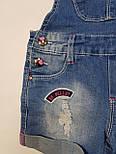 Детский джинсовый комбинезон шорты на девочку 4 года, фото 4