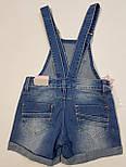 Детский джинсовый комбинезон шорты на девочку 4 года, фото 5