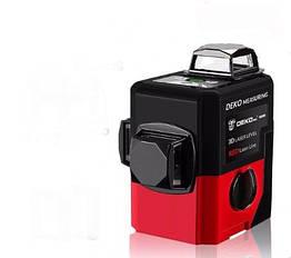 Лазерний рівень нівелір 3D Deko Pro LL-12-HV червоний лазер