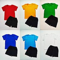 Детский комплект для физкультуры футболка и черные шорты, фото 1