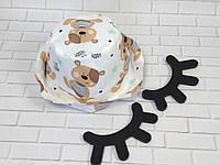 Хлопковая панамка от солнца размер 46-48см