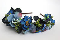 Аксессуары ручной работы украшения для волос ободок из цветов заколка женская стильная модная обруч
