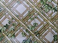 Обои влагостойкие мойка Тростник 6555-04 коричневый + зеленый, фото 1