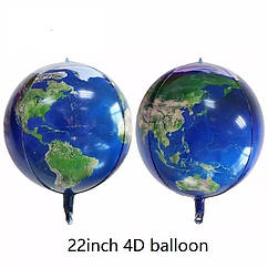 Фольгированный шар сфера 4D космос планета земля 55 см.
