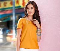 Красивенькая футболка с вышивкой от тсм Tchibo размер 32-34 евро наш 38-40, фото 1