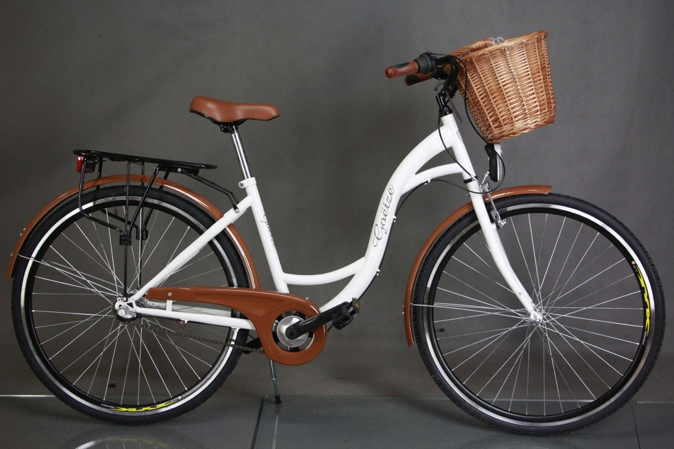 "Велосипед городской 28"" Goetze 3 передачи Shimano + LED фары + корзина"