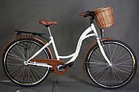 "Велосипед городской 28"" Goetze 3 передачи Shimano + LED фары + корзина, фото 1"