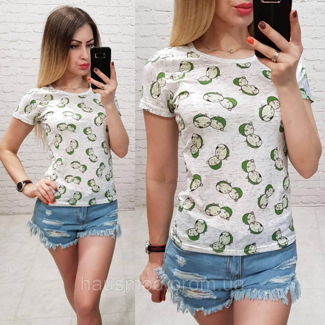 Женская футболка летняя Oversize one size качество турция размер универсал сублимация лайм цвет серый