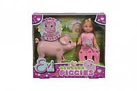 Кукольный набор Эви Свинка с поросятами Simba 5733337