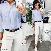 Женская рубашка в полоску 1402 Ол Код:945287720, фото 1