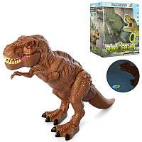 Динозавр A1027, 50см, звук, свет, проектор, ходит, 2цвета, на бат-ке, в кор-ке, 29-32,5-14,5см