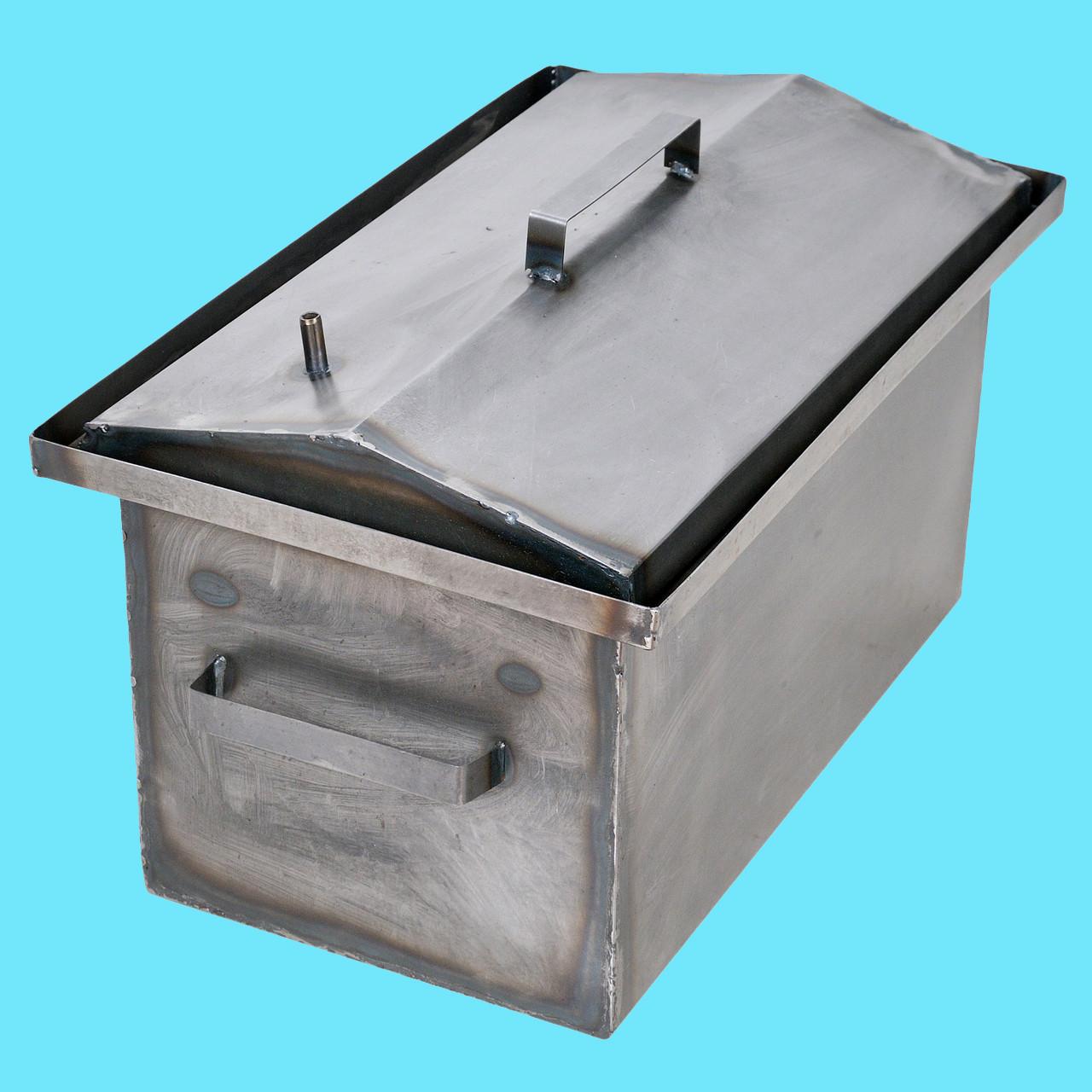 Коптильня горячего копчения 1мм 520х310х260мм с Гидрозатвором (коптилка,каптилка)