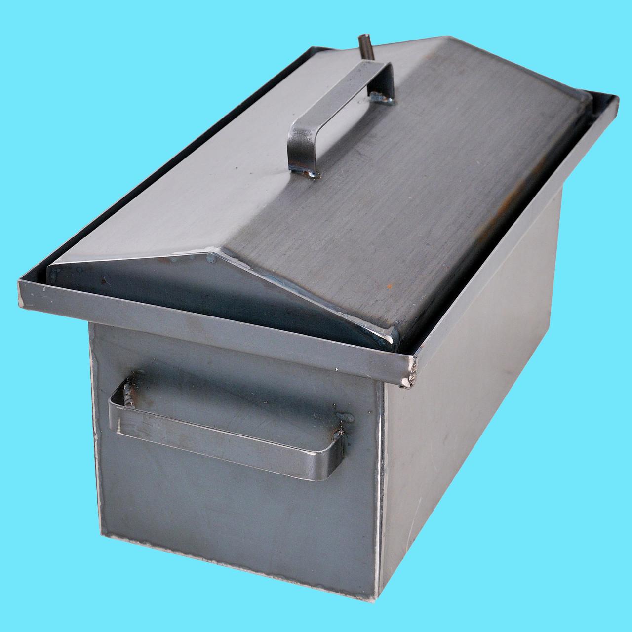 Коптильня горячего копчения 2мм 460х300х280мм с Гидрозатвором (коптилка,каптилка)