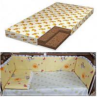 АКЦИЯ!!! Матрас в детскую кроватку+бортики+постельное бельё.