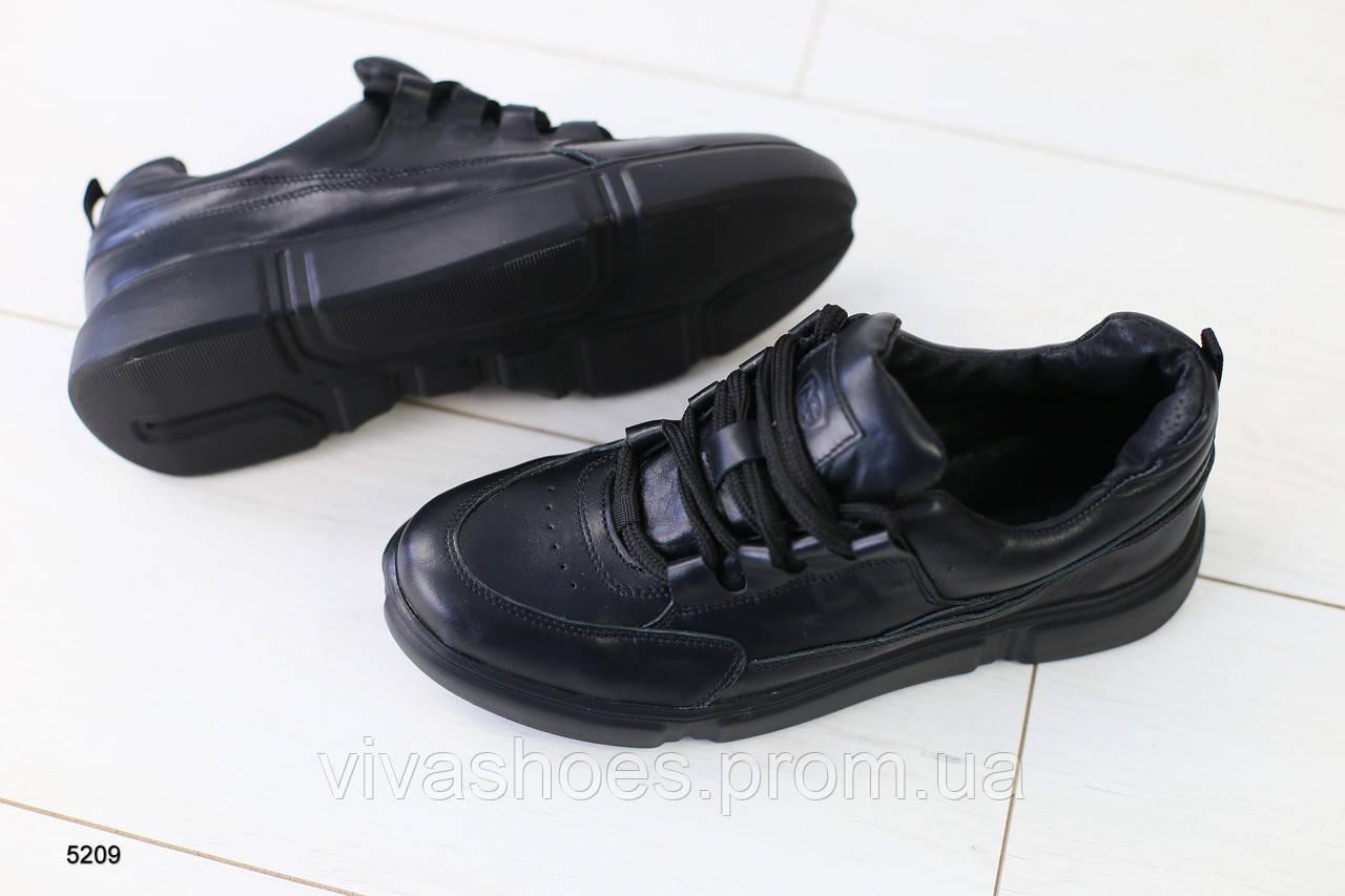 5d23bf4f Мужские кожаные черные кроссовки 40 - Интернет-магазин
