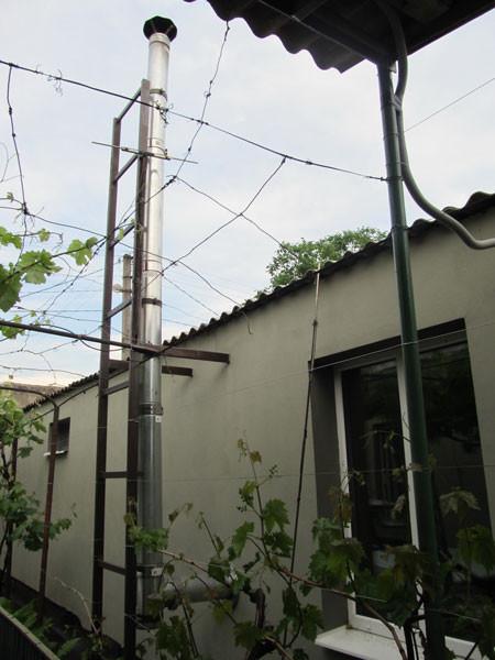 Дымоход для твердотопливного котла – выход через стену. Как установить дымоход – схема, фото, отзывы