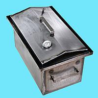 Коптильня горячего копчения 2мм 460х300х280мм с термометром (коптилка,каптилка)