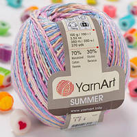 Пряжа YarnArt Summer 124 (Ярнарт Саммер) 70% хлопок, 30% вискоза