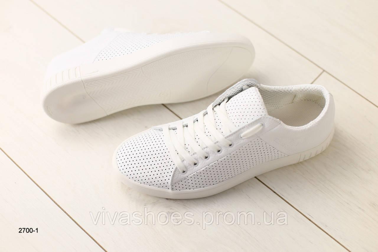 332a6025 Мужские кеды, белые кожаные на шнурках с перфорацией 40, цена 1 620 грн.,  купить в Киеве — Prom.ua (ID#968968763)