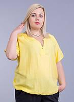 Блузка женская желтая, в размерах (52-58 р-ры)