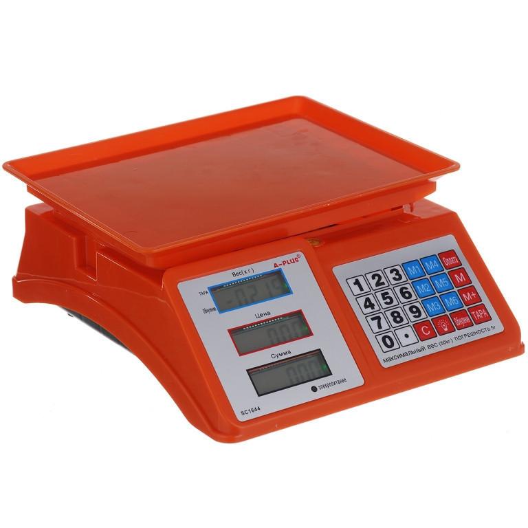"""Весы электронные торговые мини """"A-plus"""" SC-1644 50 кг"""